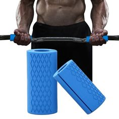 1 Pair Dumbbell Barbell Grip Bar Pad Handles Silicone Anti-slip Protect Pull Up Weightlifting Kettlebell Fat Grips Gym Support Lifting Straps, Kids Dance Wear, Disposable Diapers, Personalized Shirts, Workout Machines, Pad, Kettlebell, Barbell, Weight Lifting