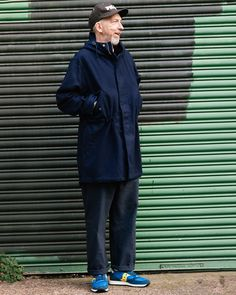 UW Boss David K keeping warm in Our Melton Parka