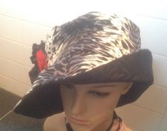 Check out Very Large, Elegant and Chic Sun Hat. Inspired by 1960s fashion. Large brim. Turn up or down. From My New French  Collection on fleursenfrance