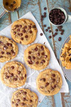 Cookie Desserts, Fun Desserts, Cookie Recipes, Delicious Desserts, Dessert Recipes, Dessert Food, Chocolate Chip Cookies Recept, Chocolate Chips, Grandma Cookies