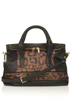 Leopard Multi Zip Tote Bag