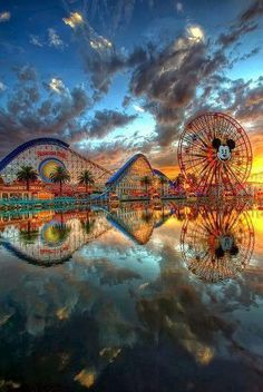 Reflection of Disneyland, California USA