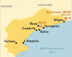 """South of Barcelona is the Costa Dorada, the """"golden coast"""", which has earned its name for its many kilometers of soft, golden sand. If you're considering a day trip or weekend break on the Costa Dorada or even a holiday,  read on for a few of our favourite spots. http://www.apartmentbarcelona.com/blog/2014/05/14/costa-dorada/"""