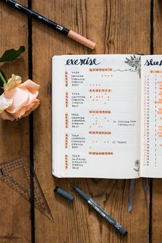 My cup of tea - # 29 - tea & twigs - The last week was mainly characterized by one thing: summer rain! The British summer felt past its - Bullet Journal Tracker, Bullet Journal Workout, Bullet Journal Ideas Pages, Bullet Journal Layout, Bullet Journal Inspiration, Bullet Journals, Bujo, Vintage Ephemera, Handmade Home