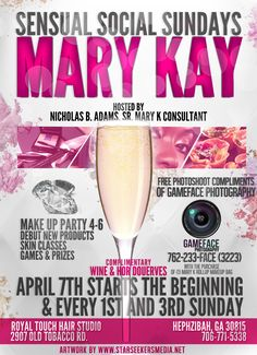 Mary Kay Party Flyers  Designed by SSMGFX.com  contact dion.amar@gmail.com
