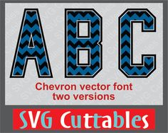 Chevron Vector Font 2 svg eps and dxf digital cut by SVGCUTTABLES