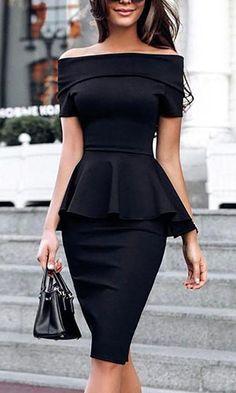 Modelos de Vestidos   peplum ombro a ombro