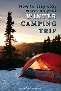 Winter camping done right can lead to refreshing solitude plus cozy moments and memories. Camping outdoor in winter means a bit more planning, like more layers of clothing and maybe special gear to withstand the cold. Follow these eight tips and plan ahead, and there's no reason you can't have a wonderful time. With less people in campgrounds and fewer hikers on the trails, you'll enjoy the winter space and serenity. Winter Camping, Camping With Kids, Family Camping, Family Travel, Camping Checklist, Camping Essentials, Backpacking Tent, Tent Camping, Camping Heater