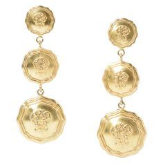 Emilio Pucci Gold-Plated Earrings