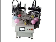 Fully Automatic Two Color Balloon Screen Printing Machine,Automatic Balloon Screen Printer Screen Printing Supplies, Screen Printing Equipment, Screen Printing Machine, Screen Printer, Latex Balloons, The Balloon, Espresso Machine, One Color, Tshirt Colors
