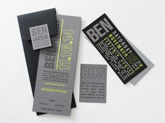 Grey, black and bright green Bar Mitzvah invitation designed by allie munroe.