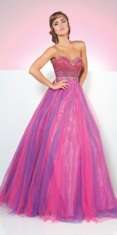 Le Gala 116549 Strapless Ball Gown