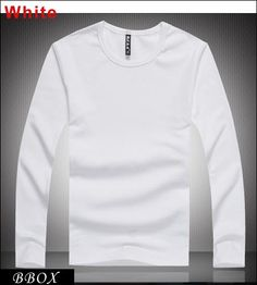 Wholesale T-Shirts - Buy Autumn Winter Men's Clothing Solid Color Stylish Crew Neck Cotton Long Sleeve Men's T-shirts Tee Tops 4 Size Brand New BBox, $8.44 | DHgate