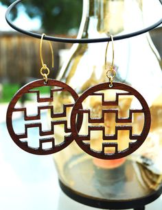 Laser cut earrings...I think I like these...