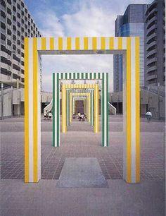 Daniel Buren, Porticos, Japon, 1996   http://www.bijouxmrm.com/ https://www.facebook.com/marc.rm.161 https://www.facebook.com/Bijoux-MRM-388443807902387/ https://www.facebook.com/La-Taillerie-du-Corail-1278607718822575/ https://fr.pinterest.com/bijouxmrm/ https://www.instagram.com/bijouxmrm/