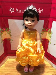 "Fits 14.5"" American Wellie Wishers Doll Girl CLothes Princess Belle INspired  #Fits145AmericanWellieWishersDol"