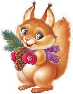 Christmas Illustration, Cute Illustration, Christmas Animals, Christmas Art, Cute Images, Cute Pictures, Animal Drawings, Cute Drawings, Baby Animals