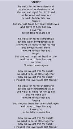 The Cure Apart Fav Off Wish Az Lyrics Music Lyrics I Robert
