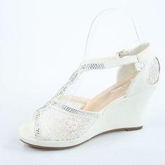 Wedge height: w/ 1 (approx) Wedding Wedges, Beach Wedding Shoes, Wedding Attire, Platform, High Heel, Bridal, Heels, Party, Fashion