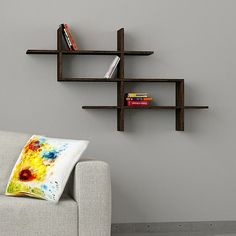 Halic Wall Shelf Black >>> Additional details at the pin image, click it : Floating Shelves Floating Bookshelves, Wall Bookshelves, Room Shelves, Display Shelves, Unique Bookshelves, Shelf Wall, Wood Shelf, Bookcases, Furniture Deals