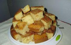 Ingredientes2 xícaras (chá) de farinha de trigo4 colheres (sopa) de margarina1 xícara (chá) de leite1 e 1/2 xícaras (chá) de açúcar3 ovos1 colher (sopa) de fermento em póMargarina e farinha de trigo para untarAçúcar e canela em pó6 bananas nanicas fatiadas no comprimento1 lata de leite condensado1 colher (sopa) de canela em póModo de PreparoBata…