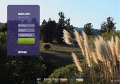 Calm.com: Probablemente el sitio más relajante de internet....  (pinned by @jagtomas #ixu)