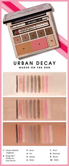 Looks so much better on tan skin. Naked on The Run | #urbandecay #sephora