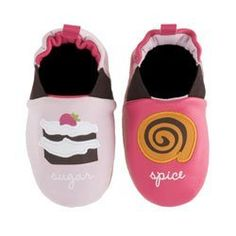 Sugar and spice baby shoes super cute.