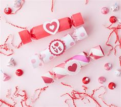 Valentine's Day crackers. Make It Now with the Cricut Explore machine in Cricut Design Space.