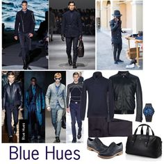 """Fall Colour Trend for Men - Blue Hues"" by wantering on Polyvore"