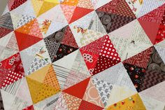 HST ruler tip - A Quilt for Fall by teaginny