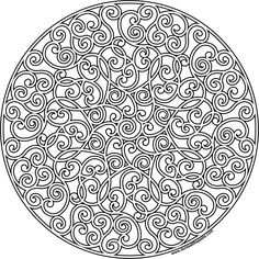 Hidden heart mandala to print and color available in JPG and transparent PNG #coloringpage #hearts #mandalas