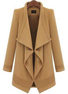 Camel Lapel Long Sleeve Belt Woolen Coat, US$48.33 (Sale): http://rstyle.me/n/svkmqr6gw  More via the Luscious Shop: www.myLusciousLife.com/shop
