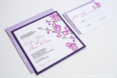 Radiant Orchid Wedding Invitation by BlossomAccents on Etsy