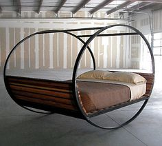 Rocking chair bed will rock you to sleep. Perfect!!