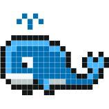 Patron Baleine dessins pixels