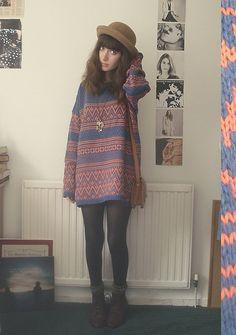 vestido de lã + meia