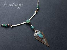Australian Boulder Opal  Pendant Necklace by Intrinsic Designs
