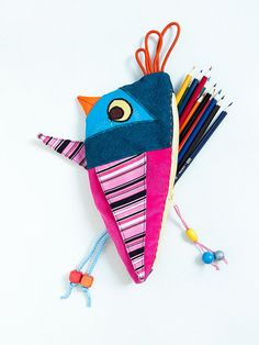Pencil Case Birdy - Back To School by TutorialGirl
