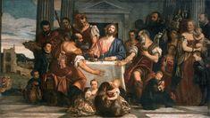 VERONESE, Paolo, Supper in Emmaus, c. 1560. Oil on canvas, 242 x 416 cm. Musée du Louvre, Paris.