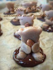 Cuddly Brown Bears in Mud Puddles Cookies (raw, vegan, gluten-free)