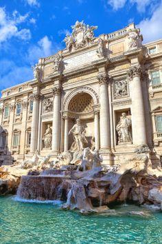 Trevi Fountain, Rome  #italy  #travel   www.culturalitaly.com