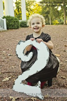 CUT OUT NUMBER 2, Baby's 2nd Birthday, Shabby Chic Photo Props,  Birthday Party Decoration, Birthday Cards, Party Invitations. $45.00, via Etsy.