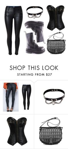 """""""Leather"""" by rebelsmarket-0 on Polyvore featuring black, rebel, Leather, Boots and rebelsmarket"""