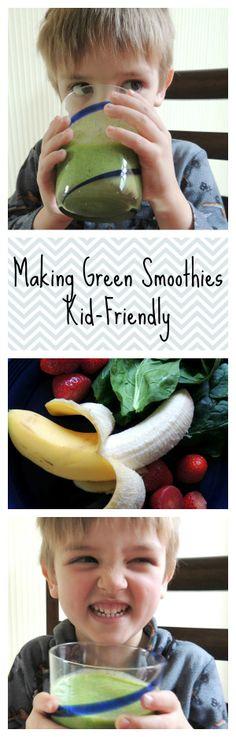 Making Green Smoothi