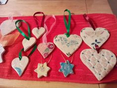 Ceramic gift tags or tree ornaments