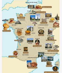 Carte de la France Gastronomique