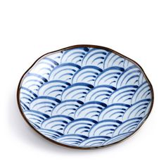 Scalloped Waves Plates- Set of 4