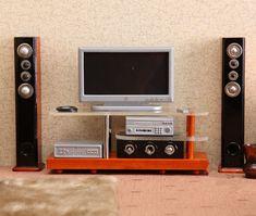 1:12 Cute MINI Dollhouse Miniature TV Sound