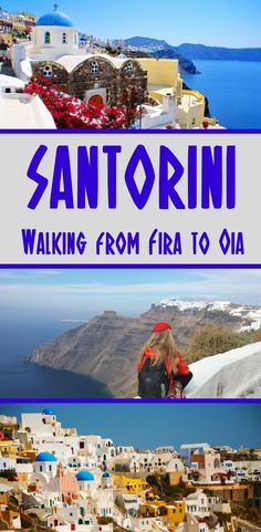 The walk from Fira to Oia in Santorini reveals the Greek island at its most stunning. Passing through some beautiful villages, the hiking trail is well marked and suitable for anyone of average fitness. Here's everything you need to know #santorini #greece